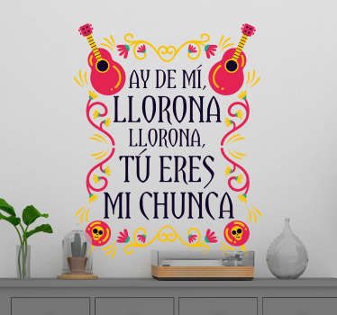 Vinilo original pared La Llorona