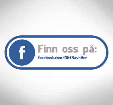 Som oss på facebook business klistremerke