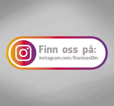 Finn oss på instagram business sticker