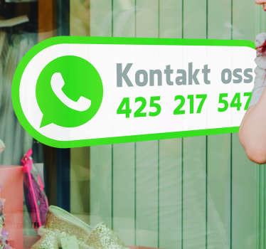 Kontakt oss på whatsapp vinduet klistremerke