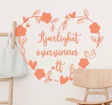 Kjærlighet erobrer all stue veggdekorasjon