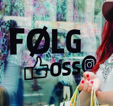 Følg på instagram business sticker