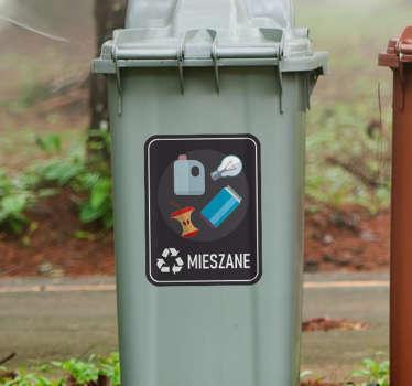 Użyteczne naklejki na kosze do segregacji śmieci z pewnością pomogą Ci i innym odpowiednio segregować śmieci zarówno w domu jak i w firmie.