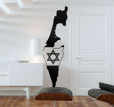 Israel flag wall sticker with the star of David symbol.. Easy to apply and available in different colours and size. Highly durable.