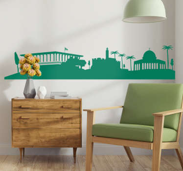 Jerusalem city skyline wall sticker for home and office decoration. Available in different colours and size options. Easy to apply and durable.