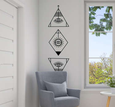 Decorative wall art sticker of viscariun symbol. Available in different colours and sizes. Easy to apply and highly durable.