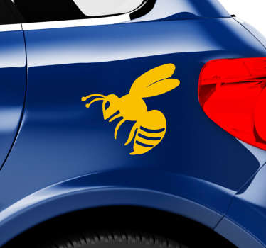 Wasp insect sticker to decorate the surface of  vehicle and on personal accessories. Available in different colours and size. Easy to apply.