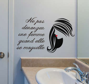 Sticker Mural Proverbe Citation Maquillage