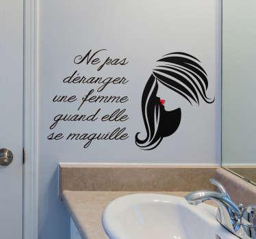 Sticker Mural Proverbe Citation Maquillage