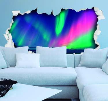 Aurora nordlys stue vegg innredning