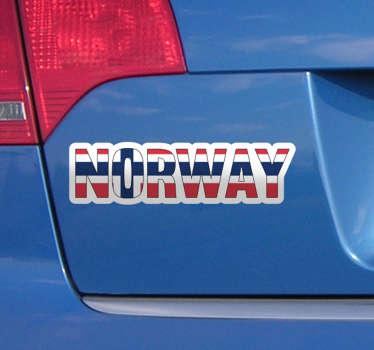 Norge flagg kjøretøy klistremerke
