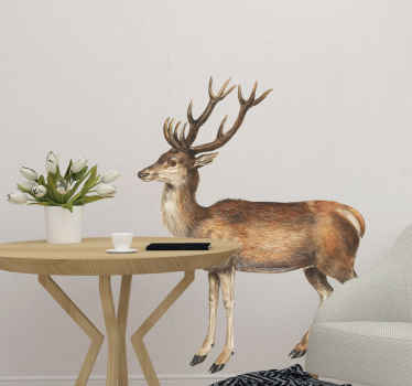 Vintage Deer Stag animal wall sticker