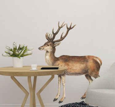 鹿ビンテージ動物壁ステッカー