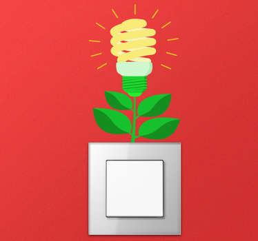 Ljus blomma ljusbrytare klistermärke