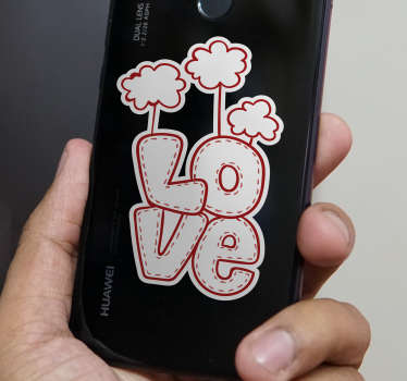 Vinilo original texto Love