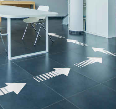 Start pointing your customers, friends and family in the right direction with these brilliant arrow floor decals. Choose from over 50 colours!
