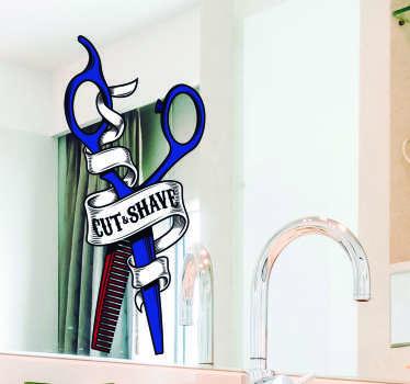 Naklejka z rysunkiem Nożyczki fryzjera