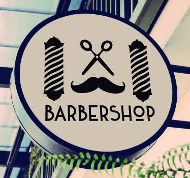 Autocollant Vitrophanie Symboles Barbier