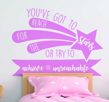 Decorate anywhere necessary with this fantastic quote wall sticker, depicting a classic quote from Kathy Freeman! Personalised stickers.