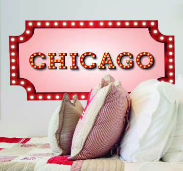 Chicago Sign Living Room Wall Decor