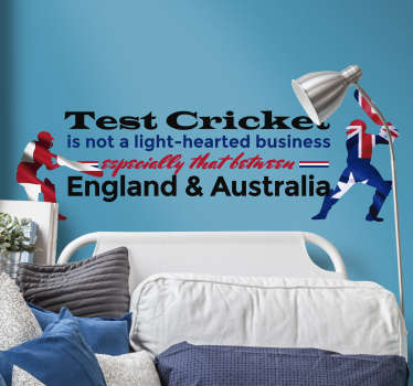Don Bradman Test Cricket Quote Sticker