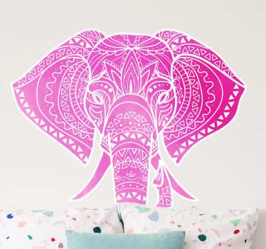 Muurstickers dieren bohemian olifant