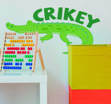 Steve Irwin Crikey Animal Wall Sticker