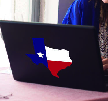 Texas Flag Laptop Sticker