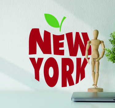 New York Home Wall Sticker