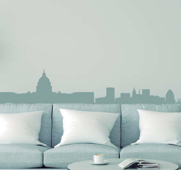 Pay tribute to the magnificent city of Washington DC with this superb skyline silhouette decal depicting the American capital!