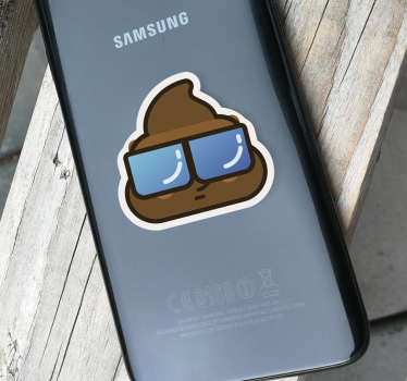 Add some unique and original phone decor to your Samsung - With a sticker depicting the poo emoji, would you believe! +10,000 satisfied customers.
