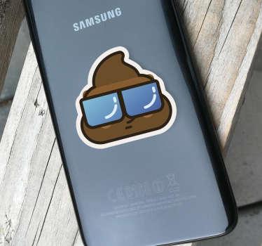 Naklejka z rysunkiem Cool kupa na telefon