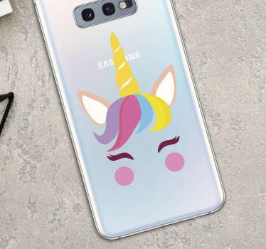 Stickers Samsung Dessin Licorne