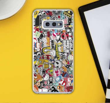 Naklejka na telefon Samsung Moc naklejek