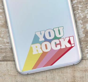 You Rock Coloured Samsung Sticker