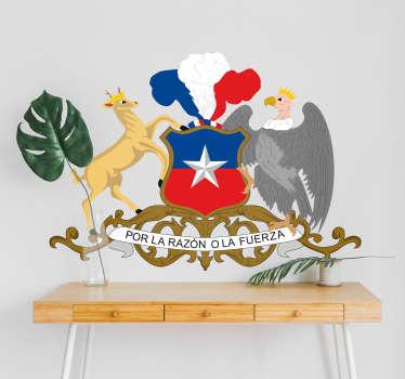 Vinilo dormitorio Emblema Chile