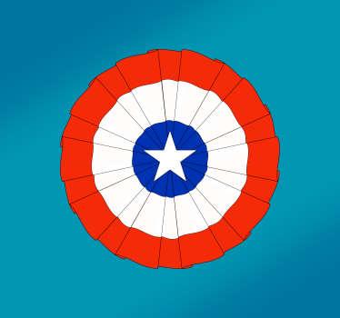 Pegatina para decorar tu vehículo formada por el diseño de una escarapela con el dibujo de la bandera de Chile. Precios Imbatibles.