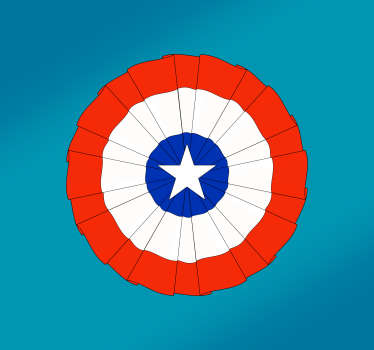 Pegatina bandera Escarapela de Chile