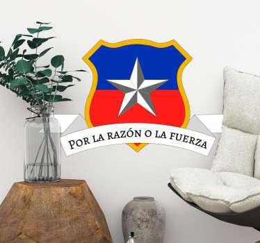 Vinilo dormitorio Lema de Chile