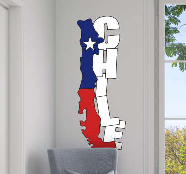 Vinilo frase Mapa de Chile