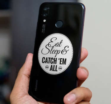 Text Aufkleber Huawei eat, sleep and catch
