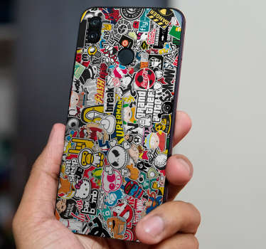 graffiti design huawei sticker