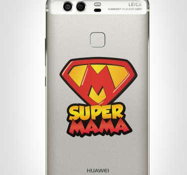 Naklejka z rysunkiem Super mama