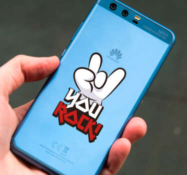 you rock text huawei sticker