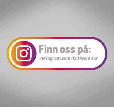 Find os instagram vindue klistermærke