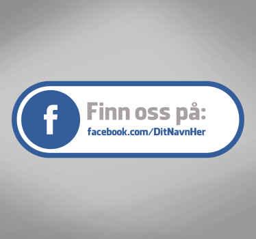 Find os facebook vinduet klistermærke