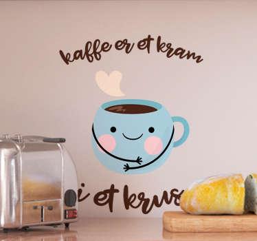 Kaffe smiley drikke klistermærke