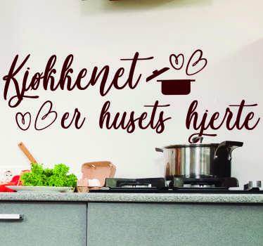 Køkkenet er hjerte af hjemmeklistermærket