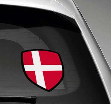 Denmark flag bil bil klistermærke
