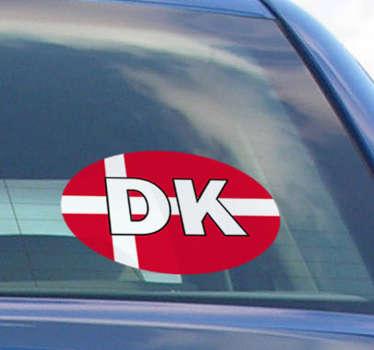 Flag denmark bil klistermærke flag klistermærke